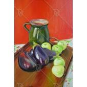 Padlizsán almával